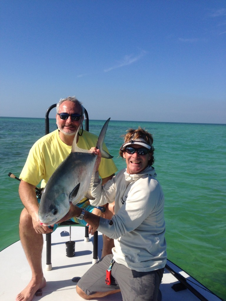 Permit on live crab with capt. Mike O'Brien